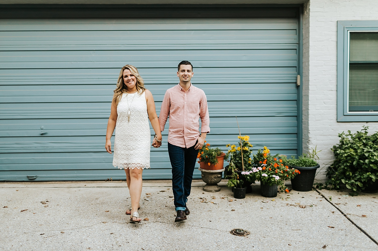 Fall engagement session at fells point, baltimore
