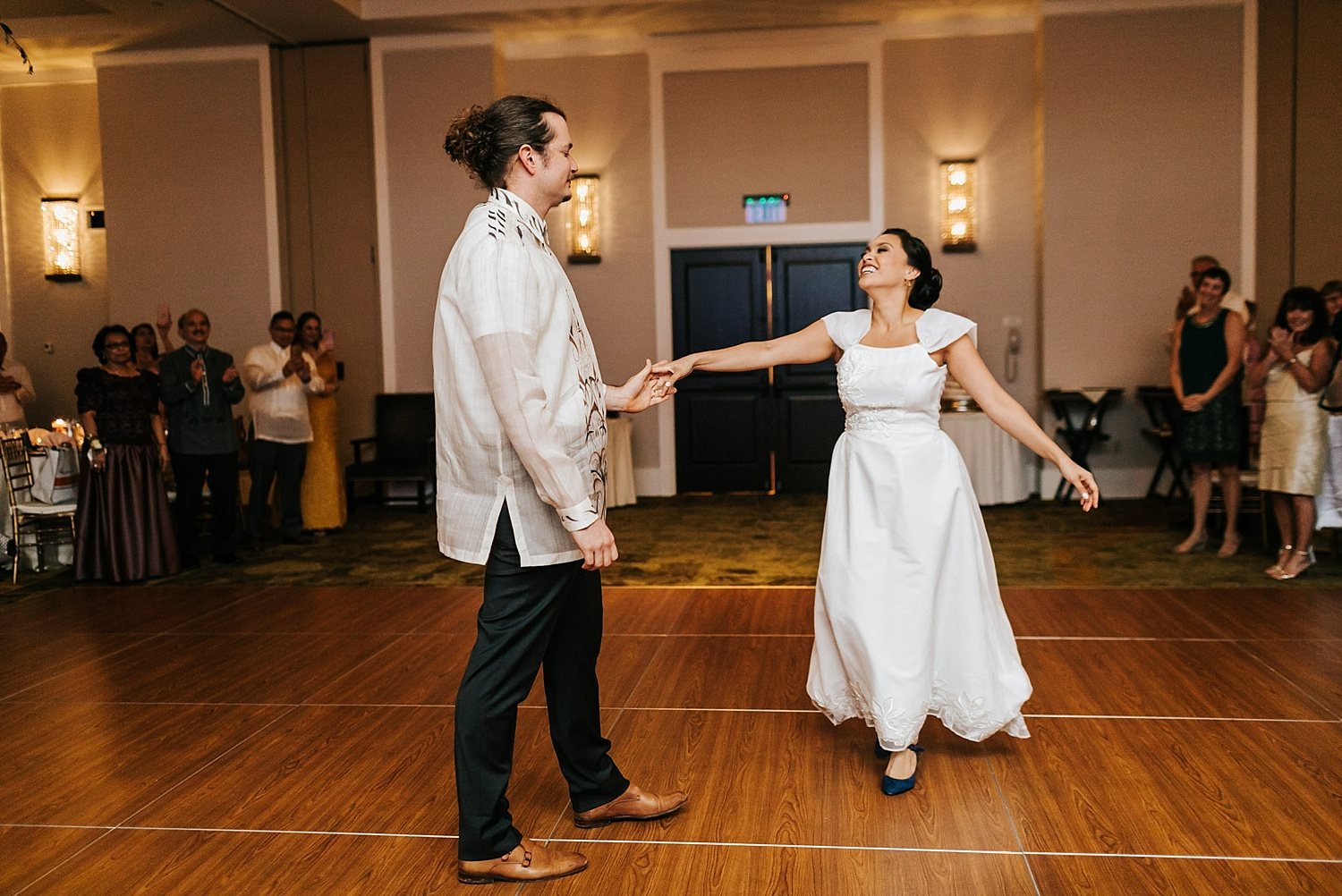 Bride and groom first dance at inn at penn