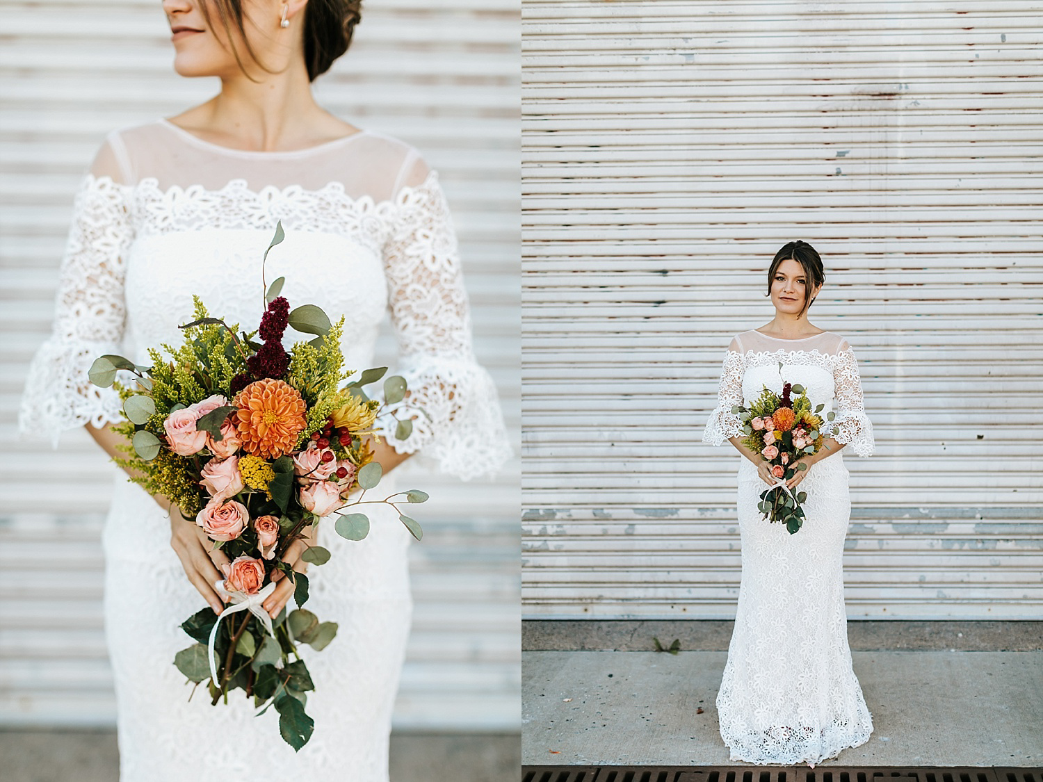 Bride portraits in fishtown, philadelphia