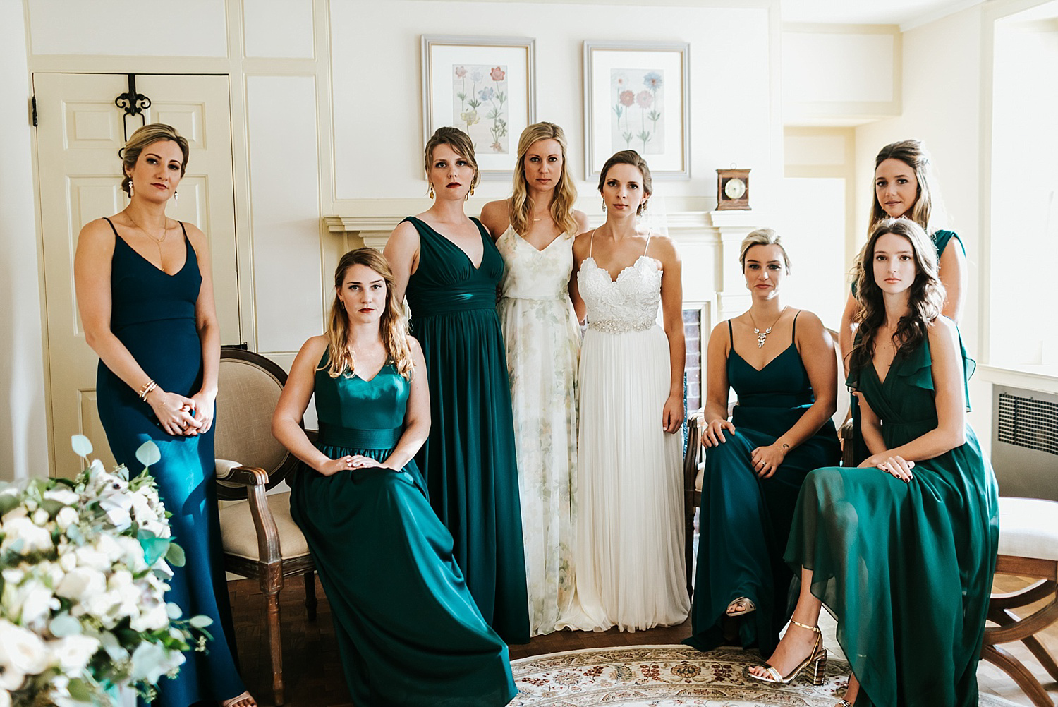 Bride and bridesmaids at philander chase knox by danfredo photos + films