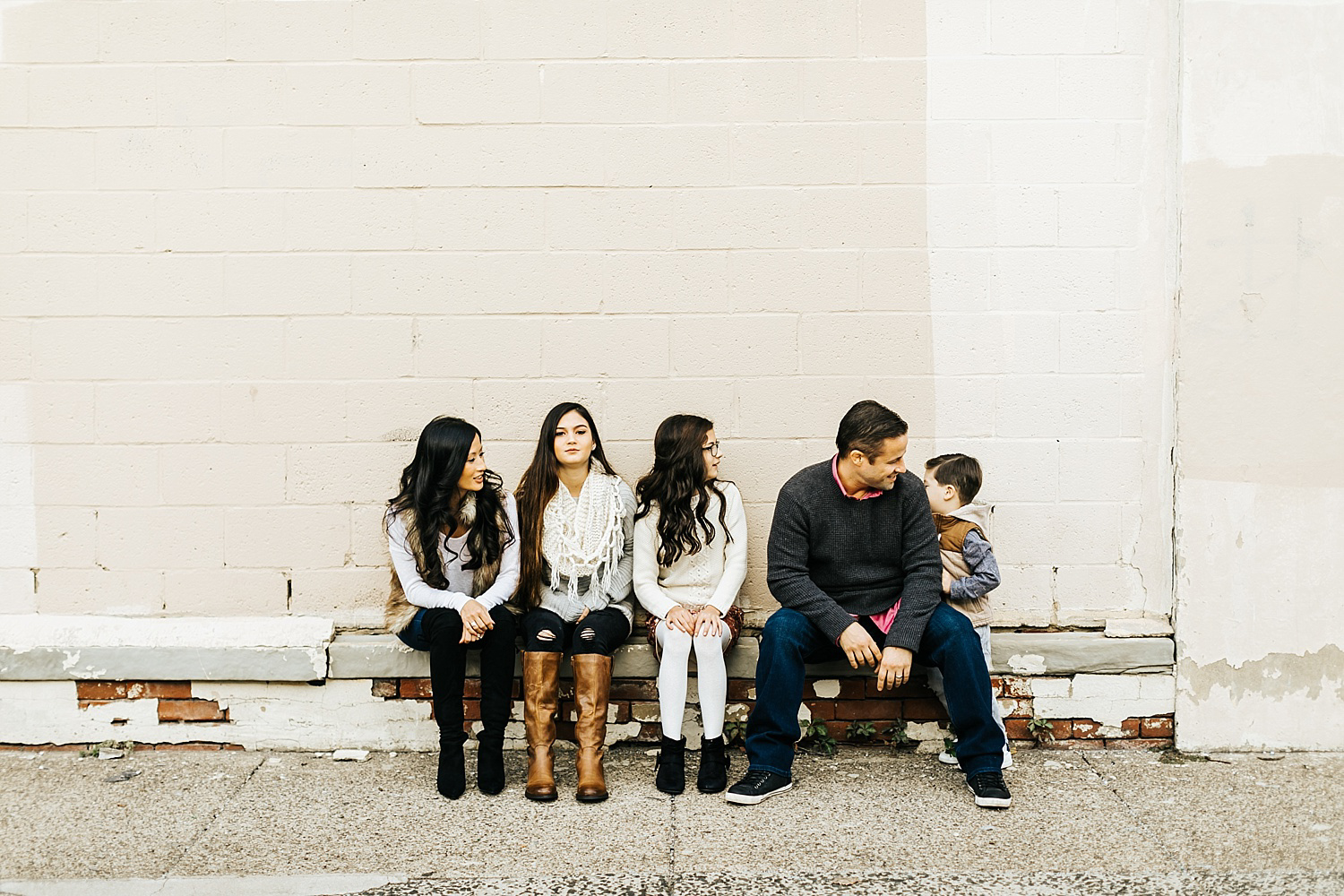 Fall family session in kensington, philadelphia