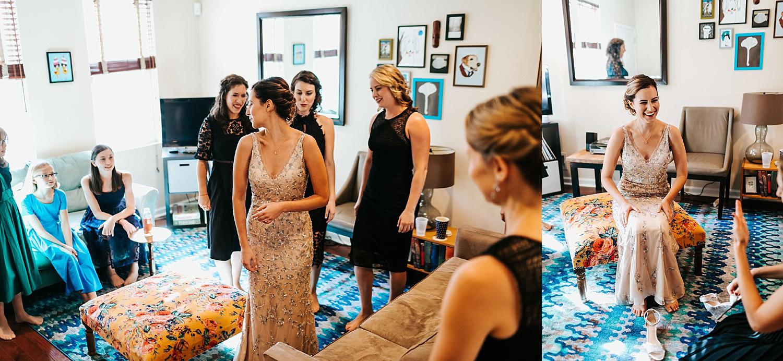 Bride with bridesmaids in philadelphia