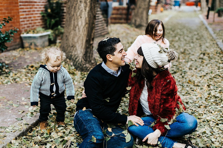 Family session in fitler square philadelphia