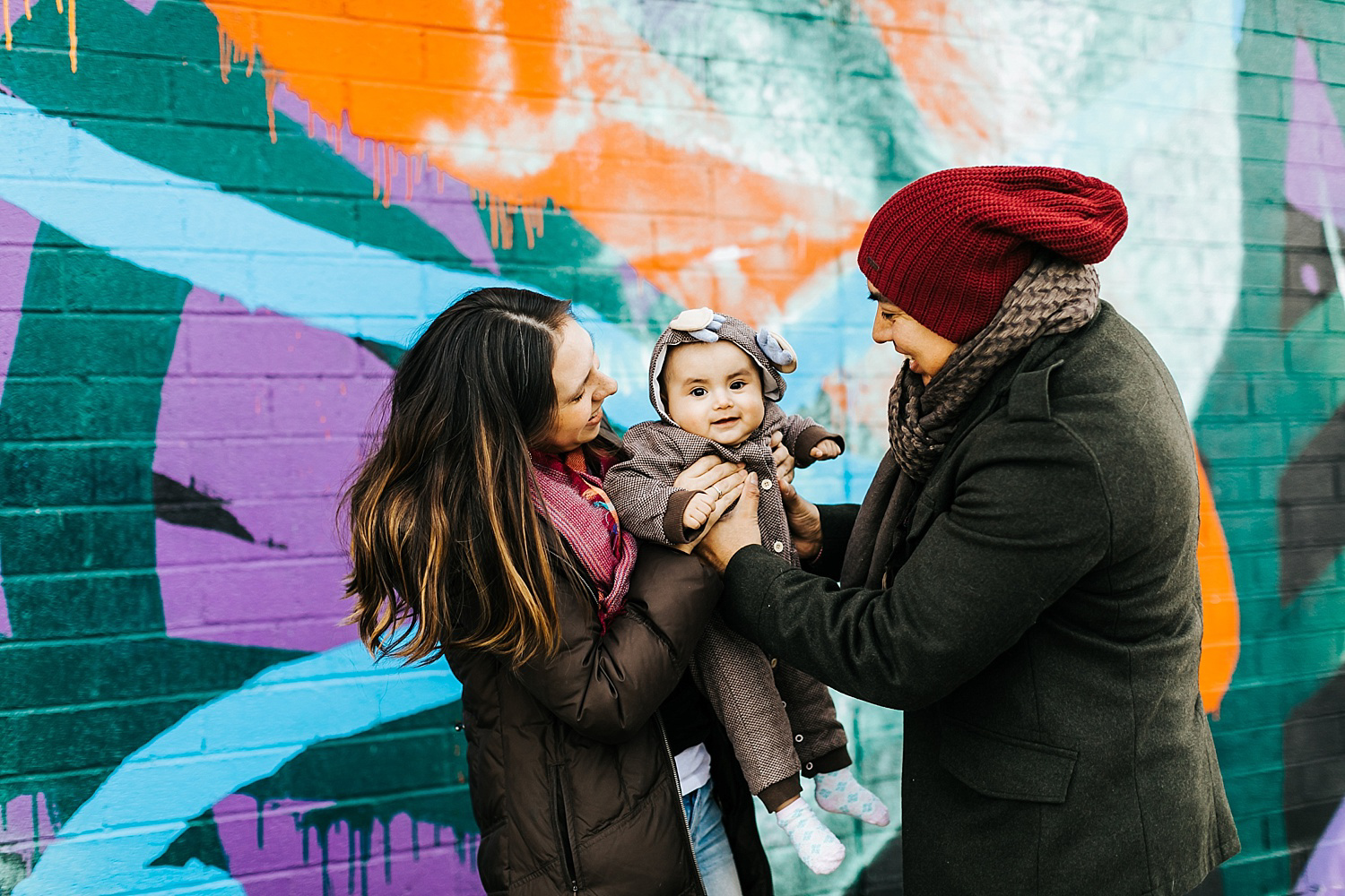 Family photo shoot at Williamsburg, brooklyn
