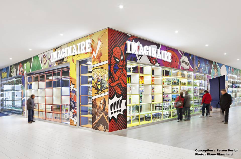Imaginaire's amazing new store benefited from Upper Deck co-op funds