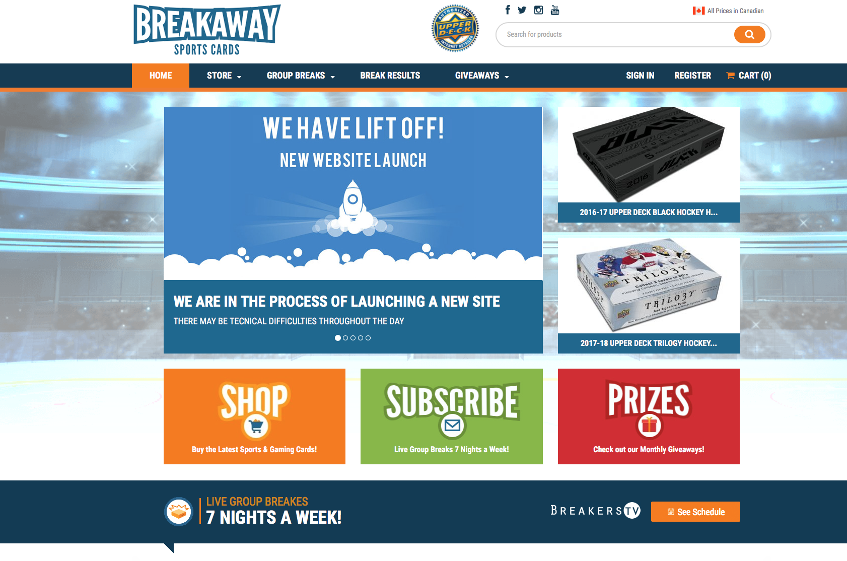 Another great new website from our friends at Breakaway Sports Cards in Hamilton!