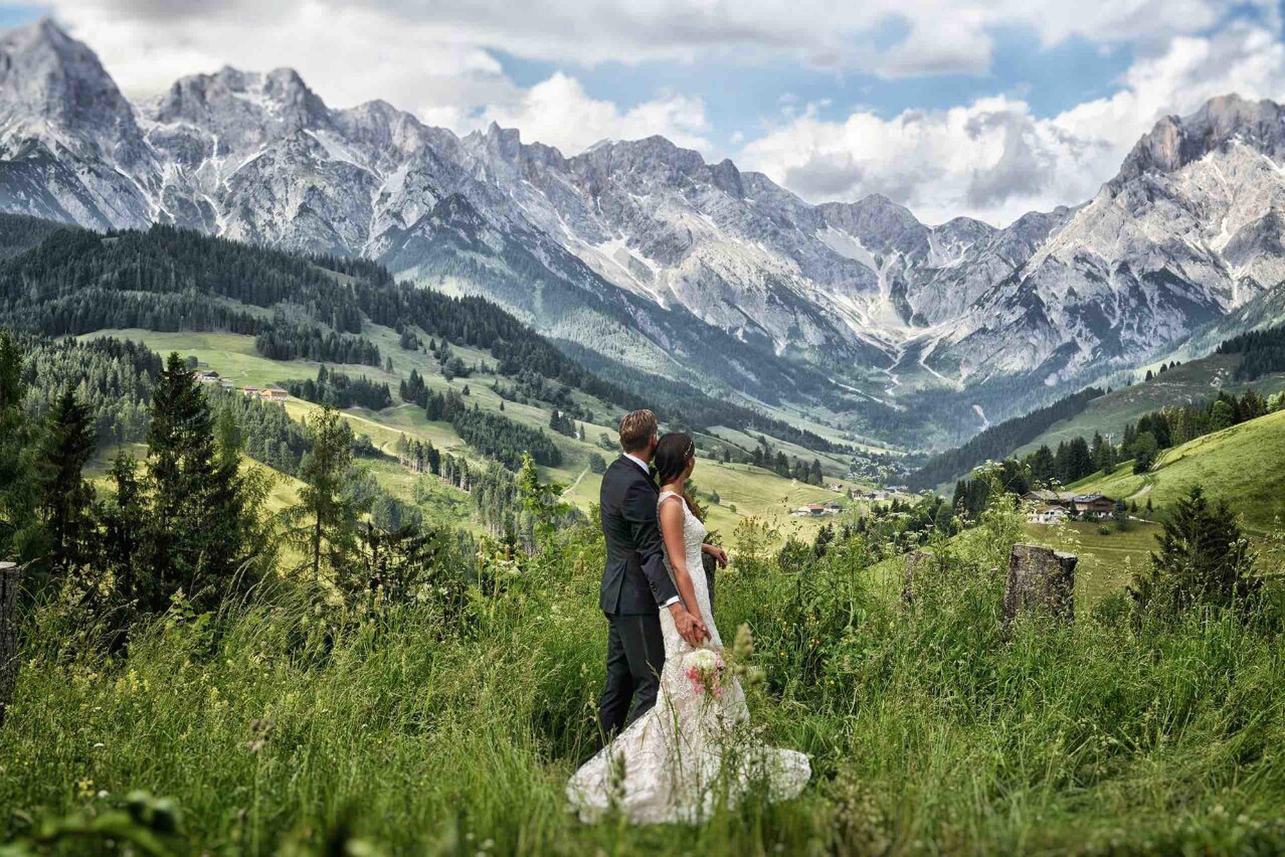 Hochzeit mit Bergkulisse