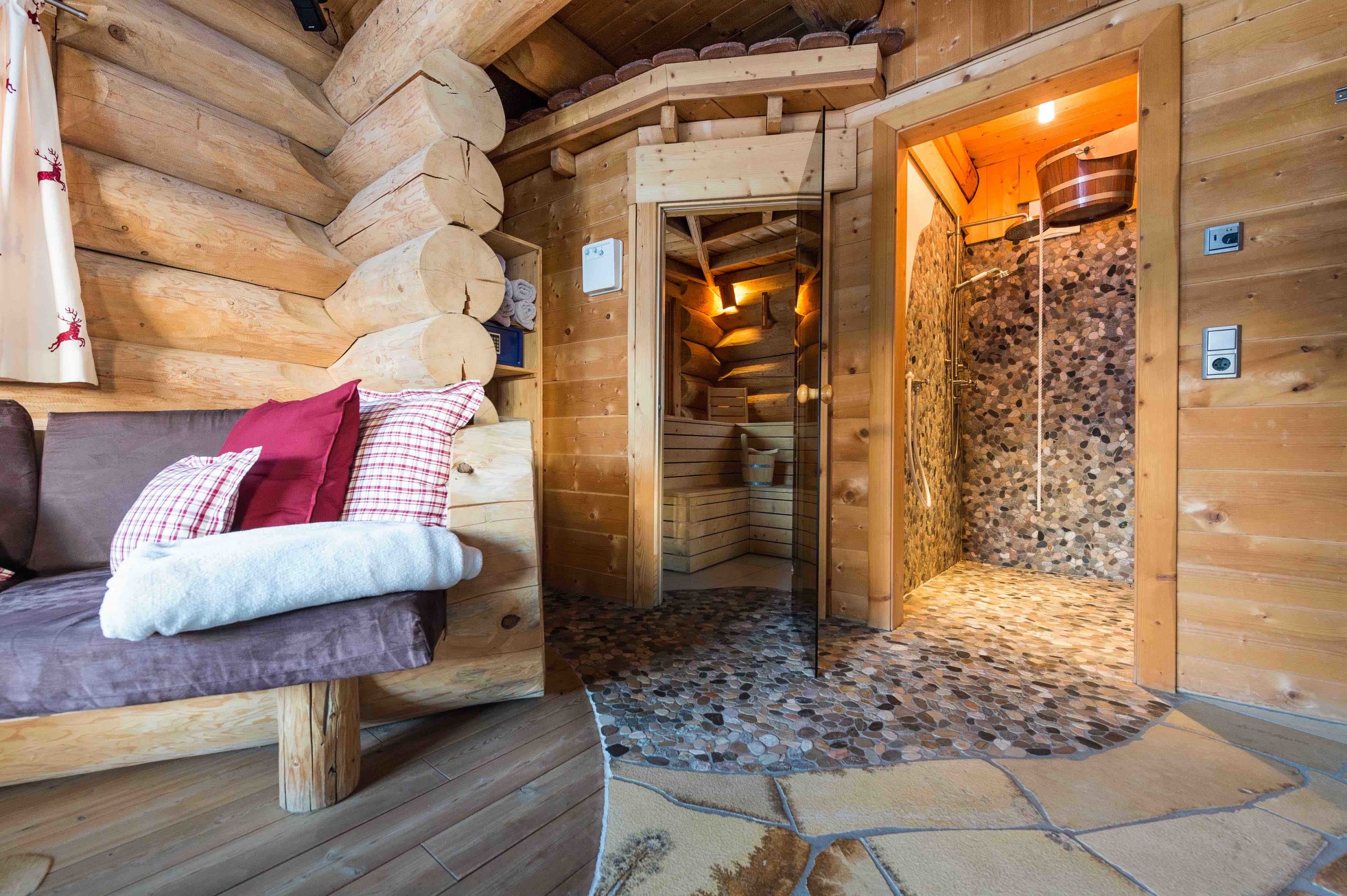 Sauna im Wohnraum