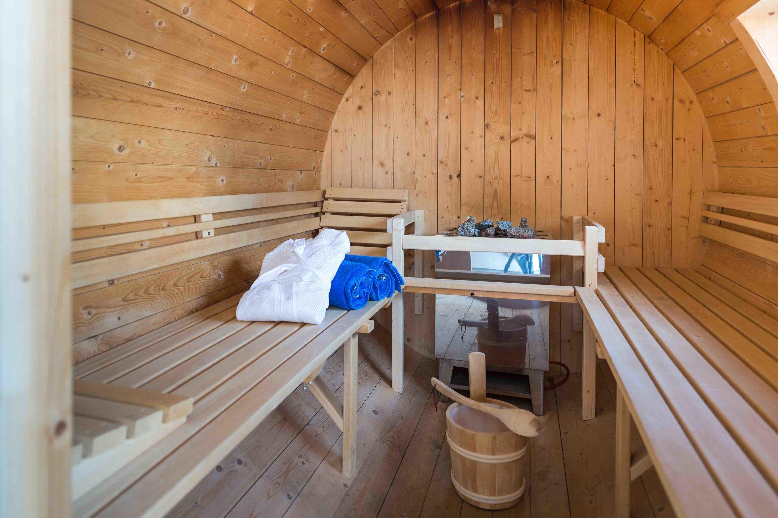 Sauna auf der eigenen Terrasse