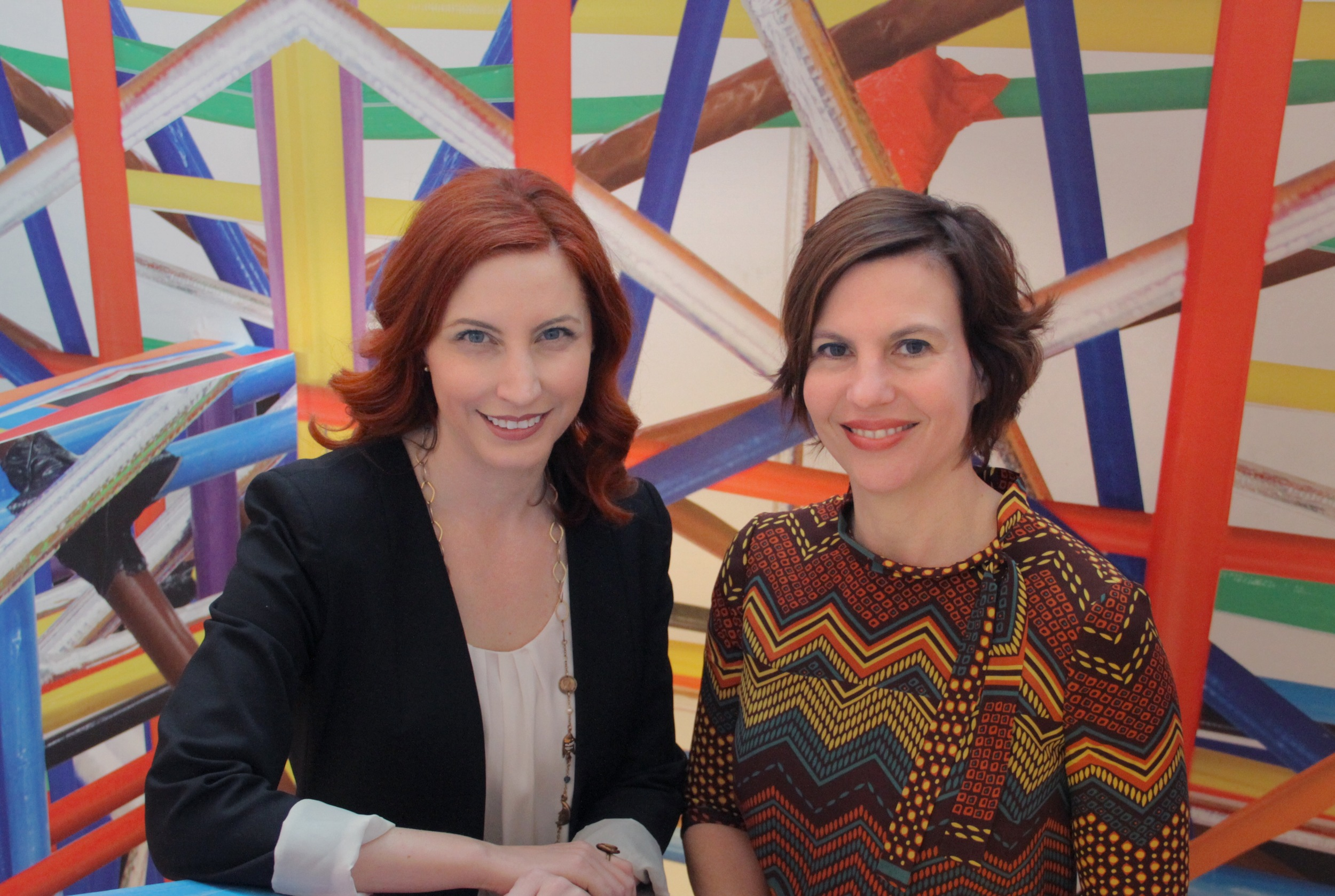Johnson Foundation CEO, Amy Goodwin, with Contemporary Arts Center Director Raphaela Platow. Photo Courtesy of Contemporary Arts Center.