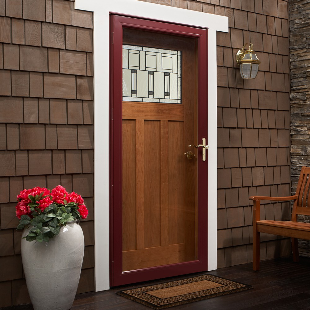 Full-View Steel Storm Door