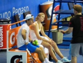 On court training with Eugenie Bouchard.