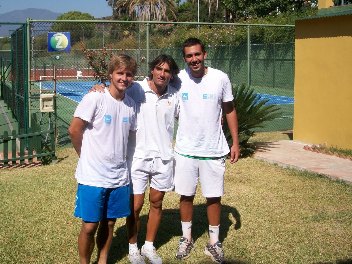 Me with my coach, Pepe Imaz and fellow player Carlos Gomez.
