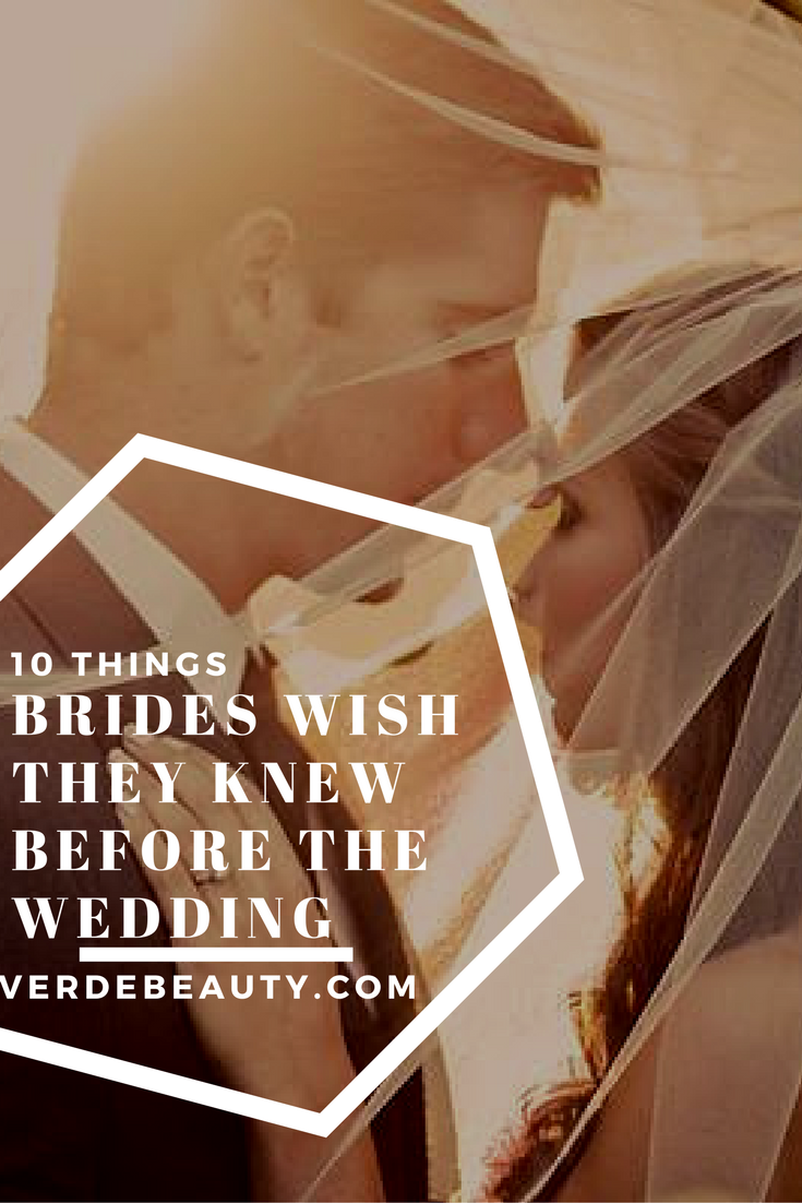 what you'll wish you knew before the wedding