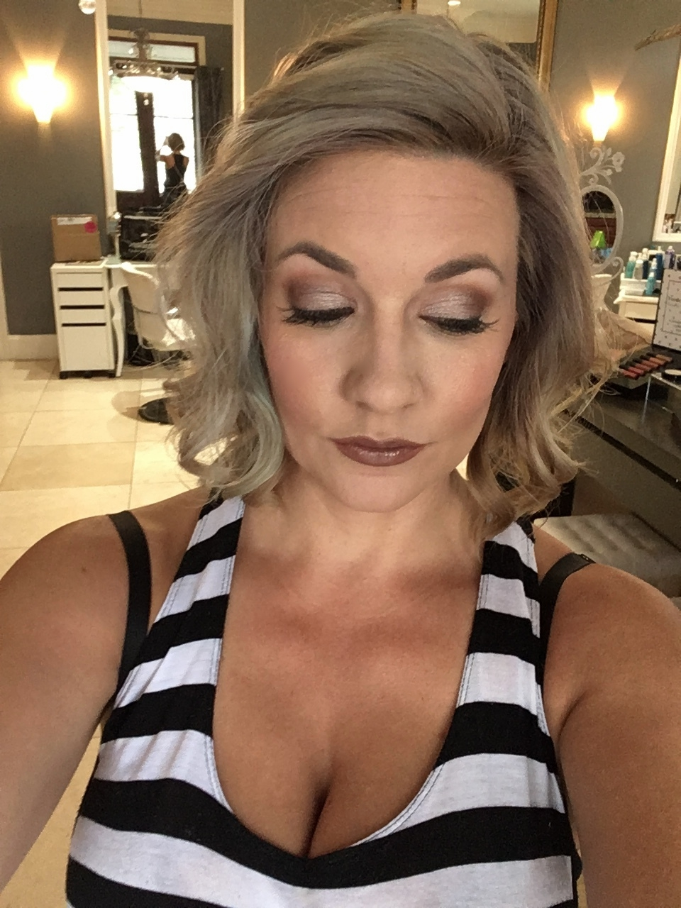 Here is the look using these products!