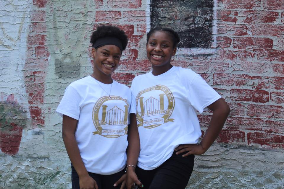 Young adult dance team members