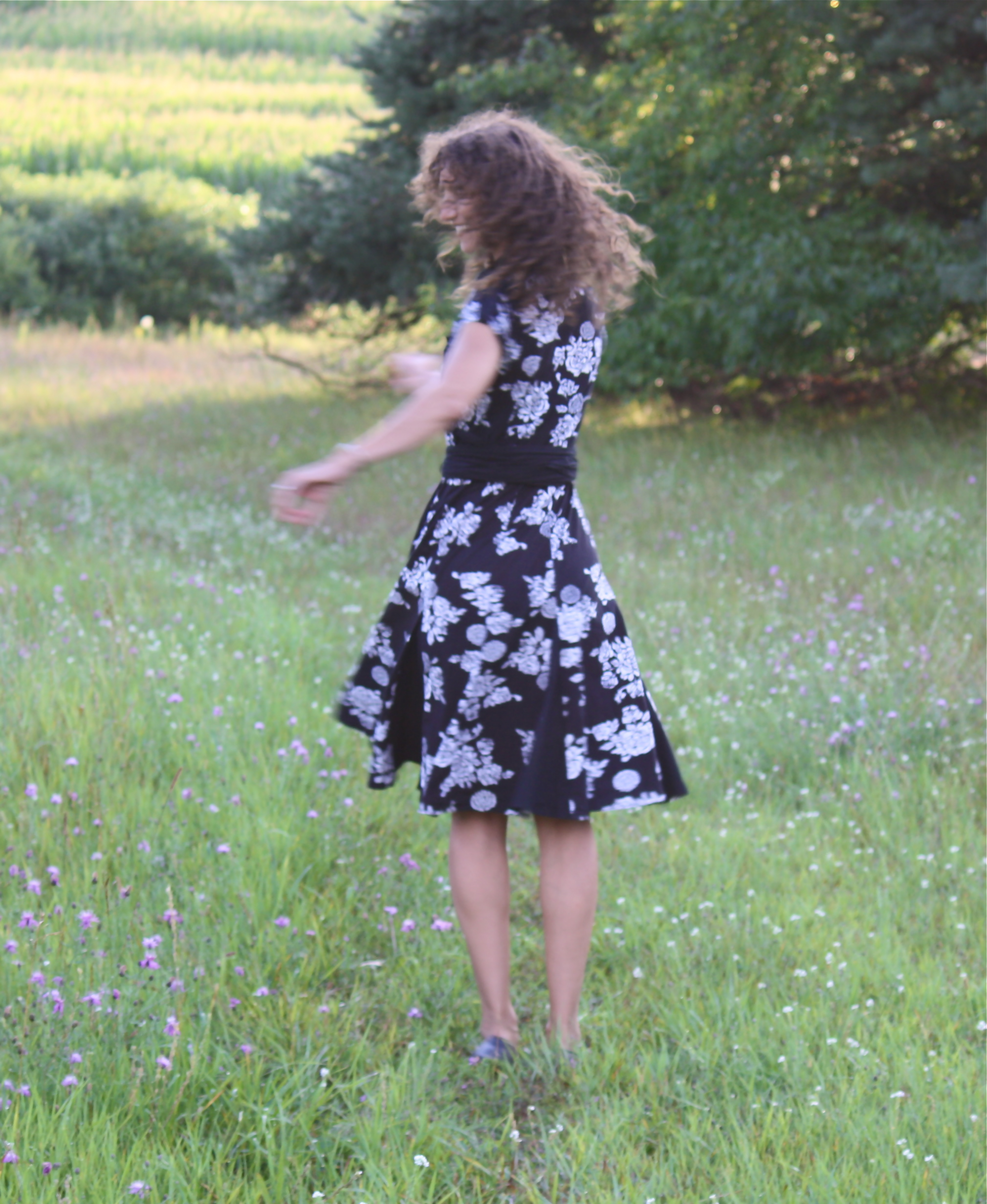No, I do not think I am too old to twirl in a field of wildflowers.