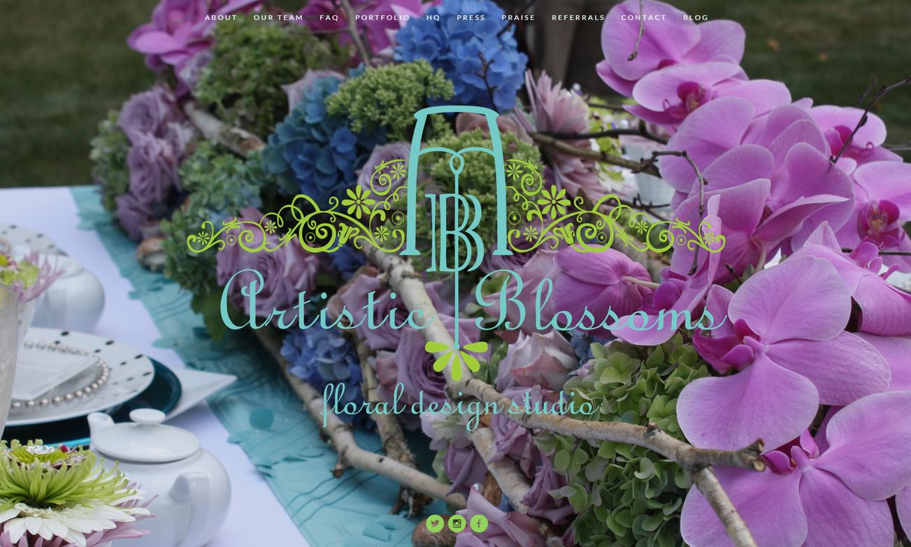 Artistic Blossom's New & Improved Website!