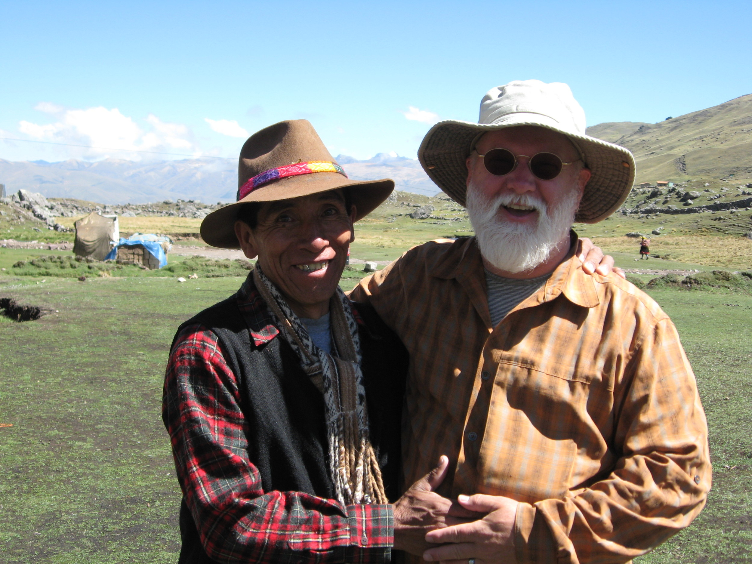 Jeffrey Rich shamanic healing practitioner with sweet Clemente in Peru, 2013