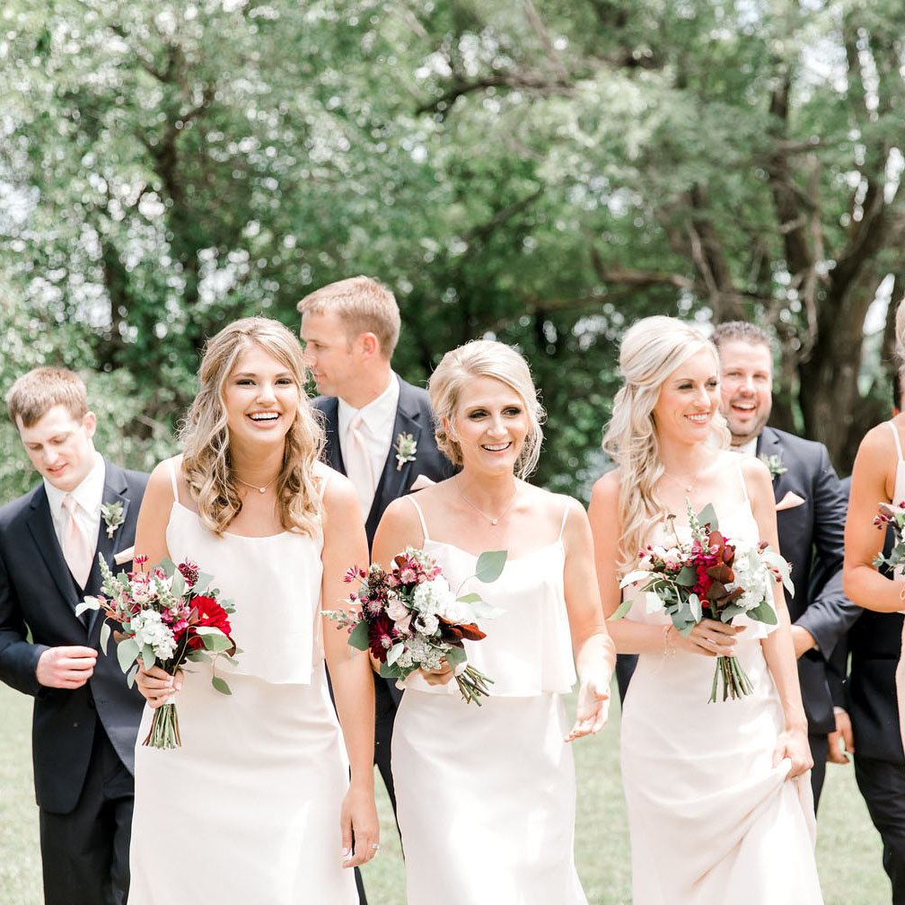 Molly & Matt - Burgundy & blush small-town Nebraska wedding