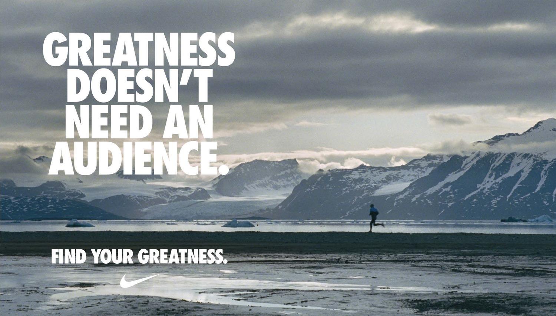 hacer clic almacenamiento cocaína  Nike — Find Your Greatness — Sezay Altinok — Creative Director