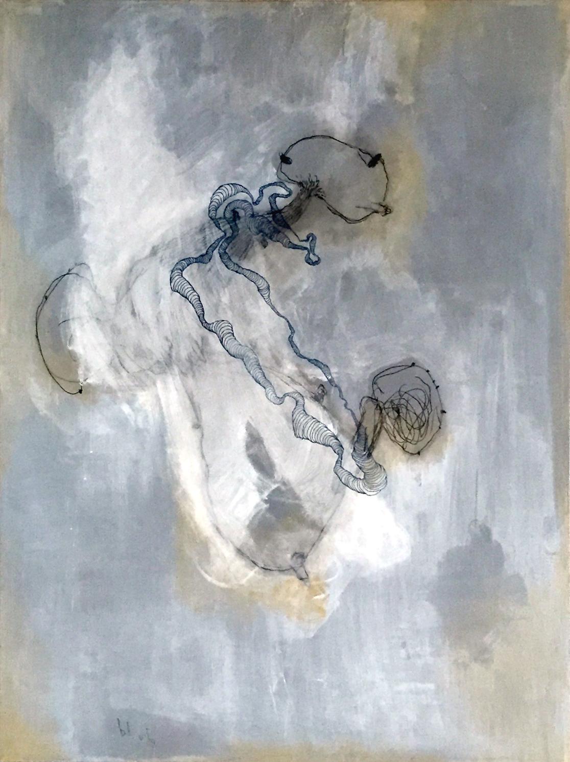 """blub   64"""" X 48""""  acrylic on canvas  2015"""