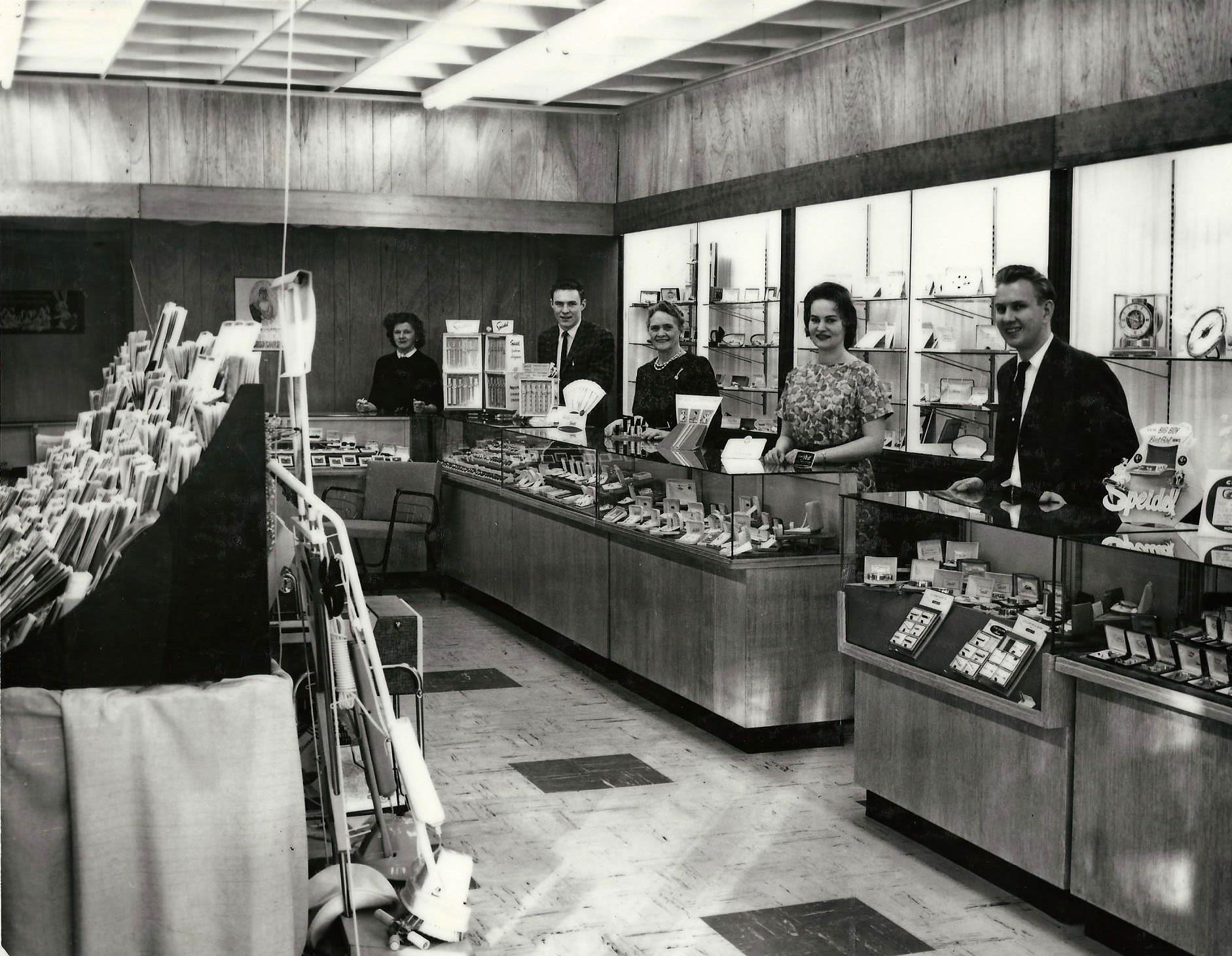 Howie's Jewelers Staff & Showroom, Circa 1959