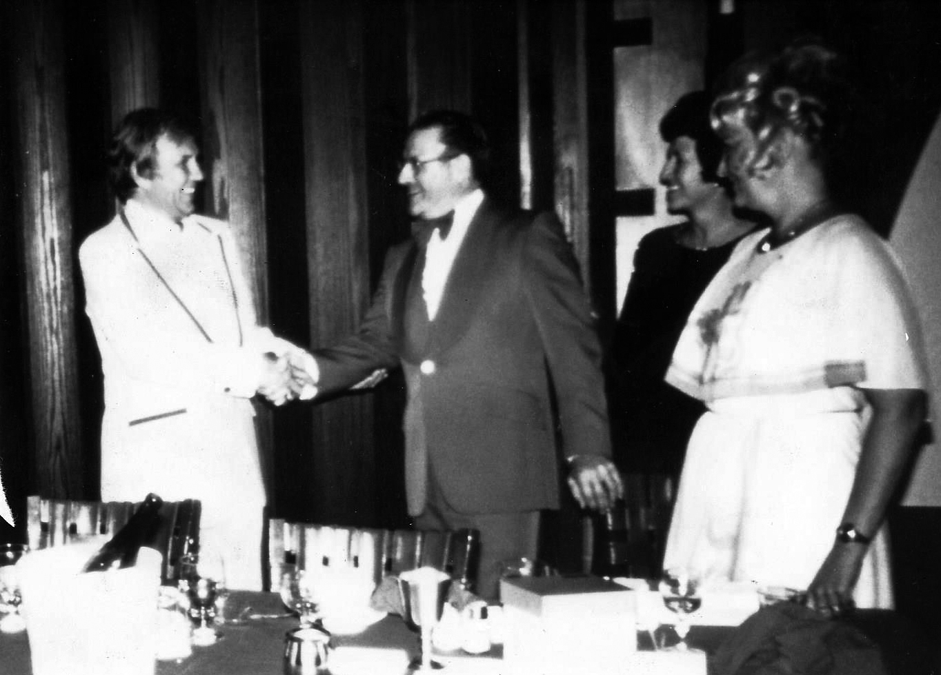 Howie Sr. receiving the honor of Vice President of the NYS Jewelers Association, 1983