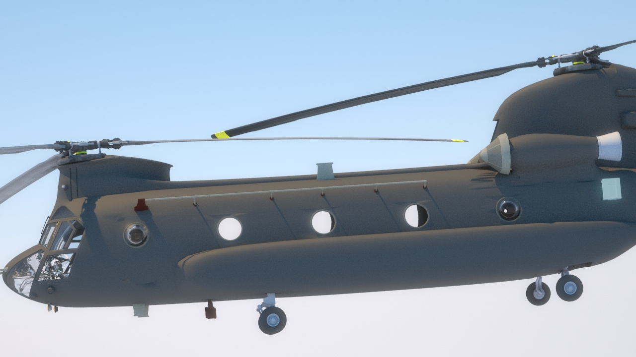 CH-47 frame from animated sequence.
