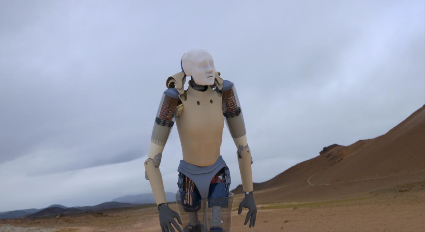 Robot rendered n Keyshot.