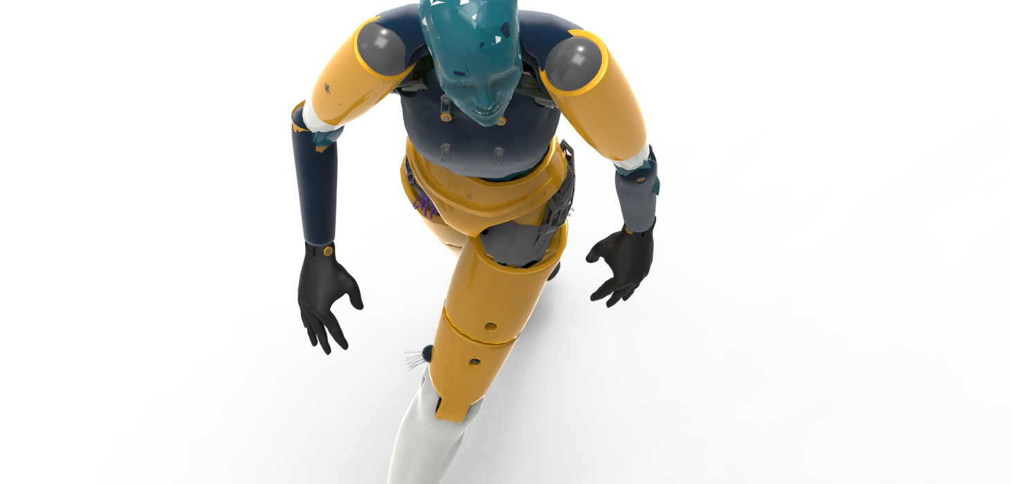 Robot rendered in Keyshot.