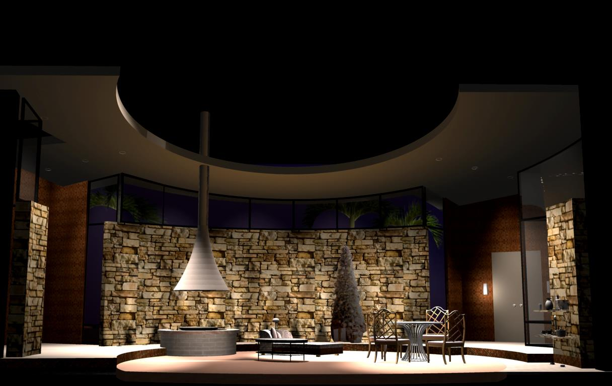 """2012 3d Graphic for The Tony Awards (White Cherry Productions) """"Other Desert Cities"""" for best play segment. (test render)"""