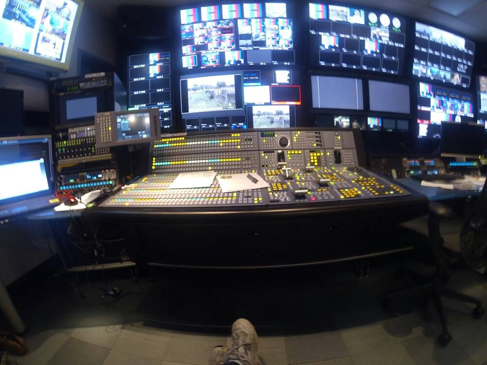 """""""This Week with George Stephanopoulos"""" , Technical Director  (note cheap shoes.)"""