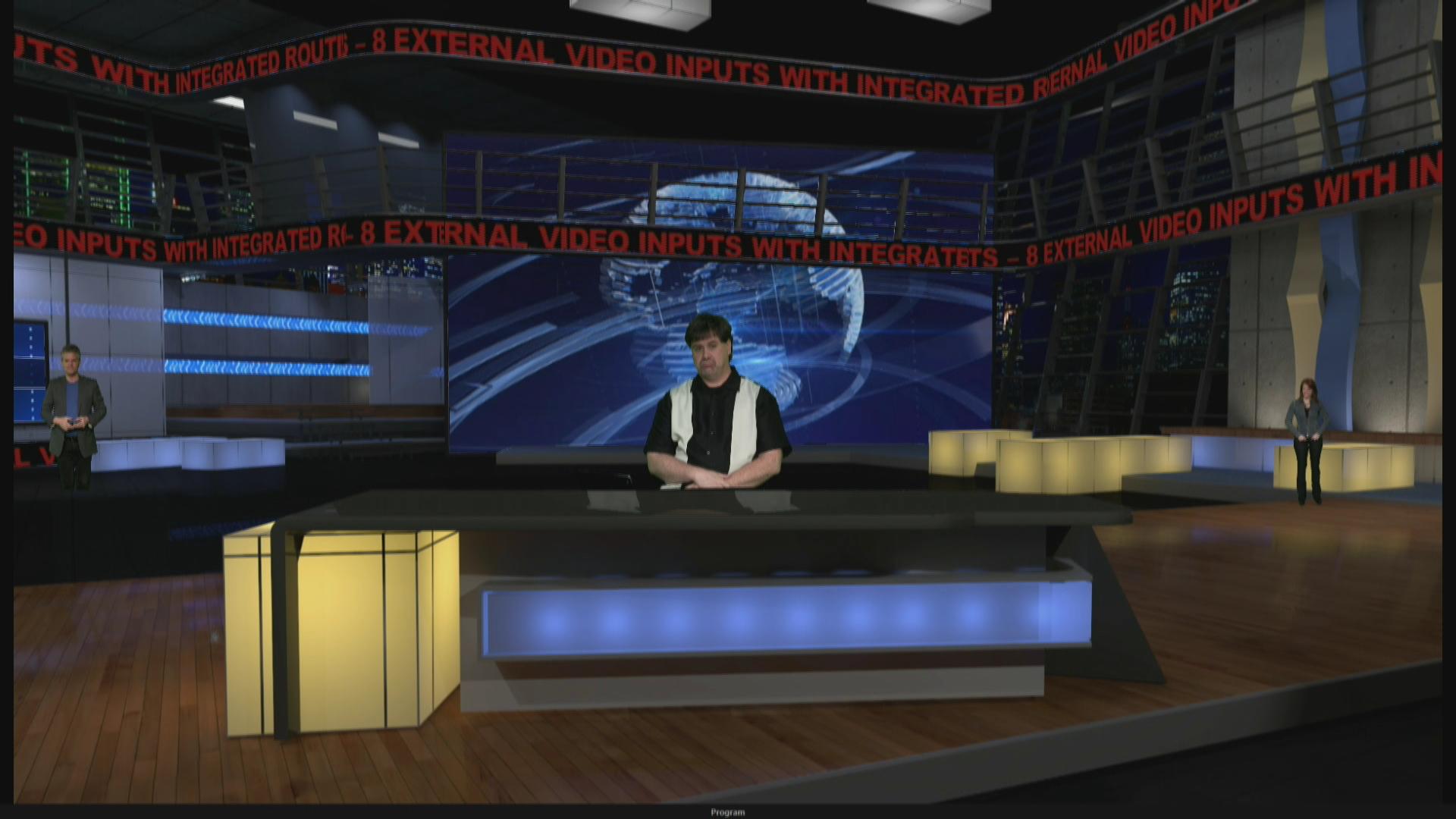 Virtual Set Lighting Design