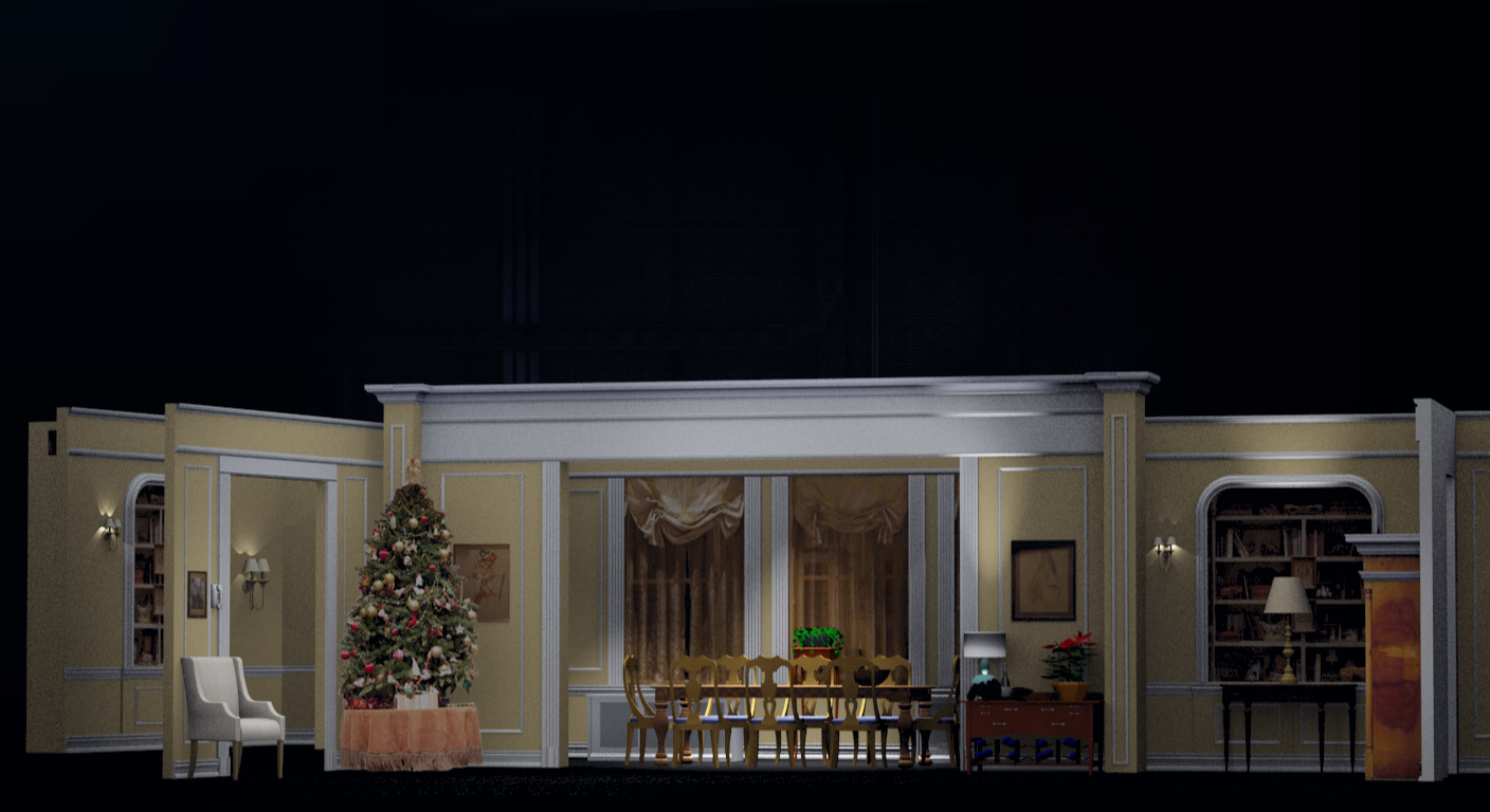 """3d Graphic for The 2013 Tony Awards (White Cherry Productions) """"The Assembled Parties"""" , best play segment, animated sequence."""
