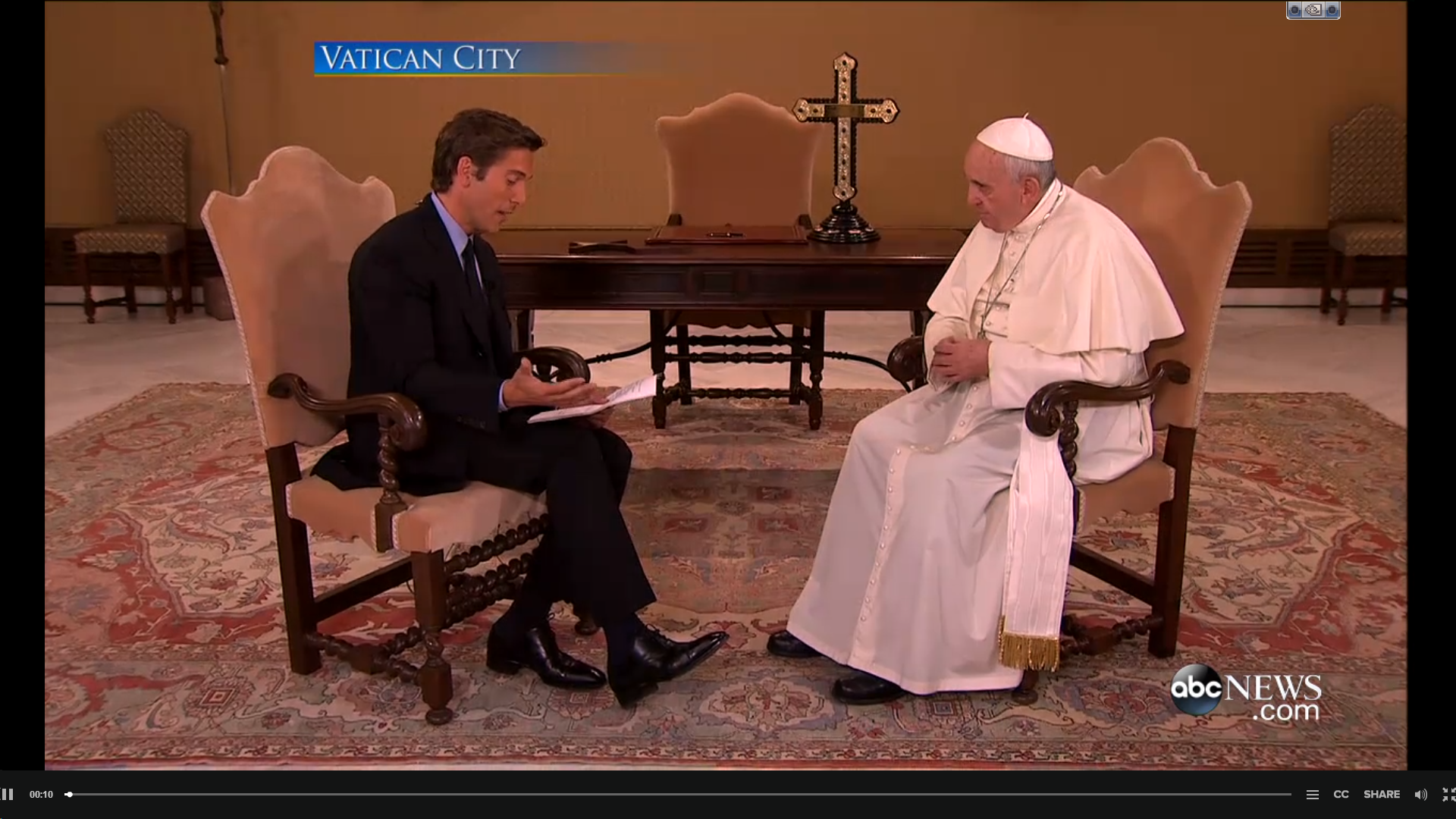 """""""Pope Francis and the People"""" a four city, 12 camera special edition for ABC's 20/20. Richard Ehrenberg, Technical Director."""