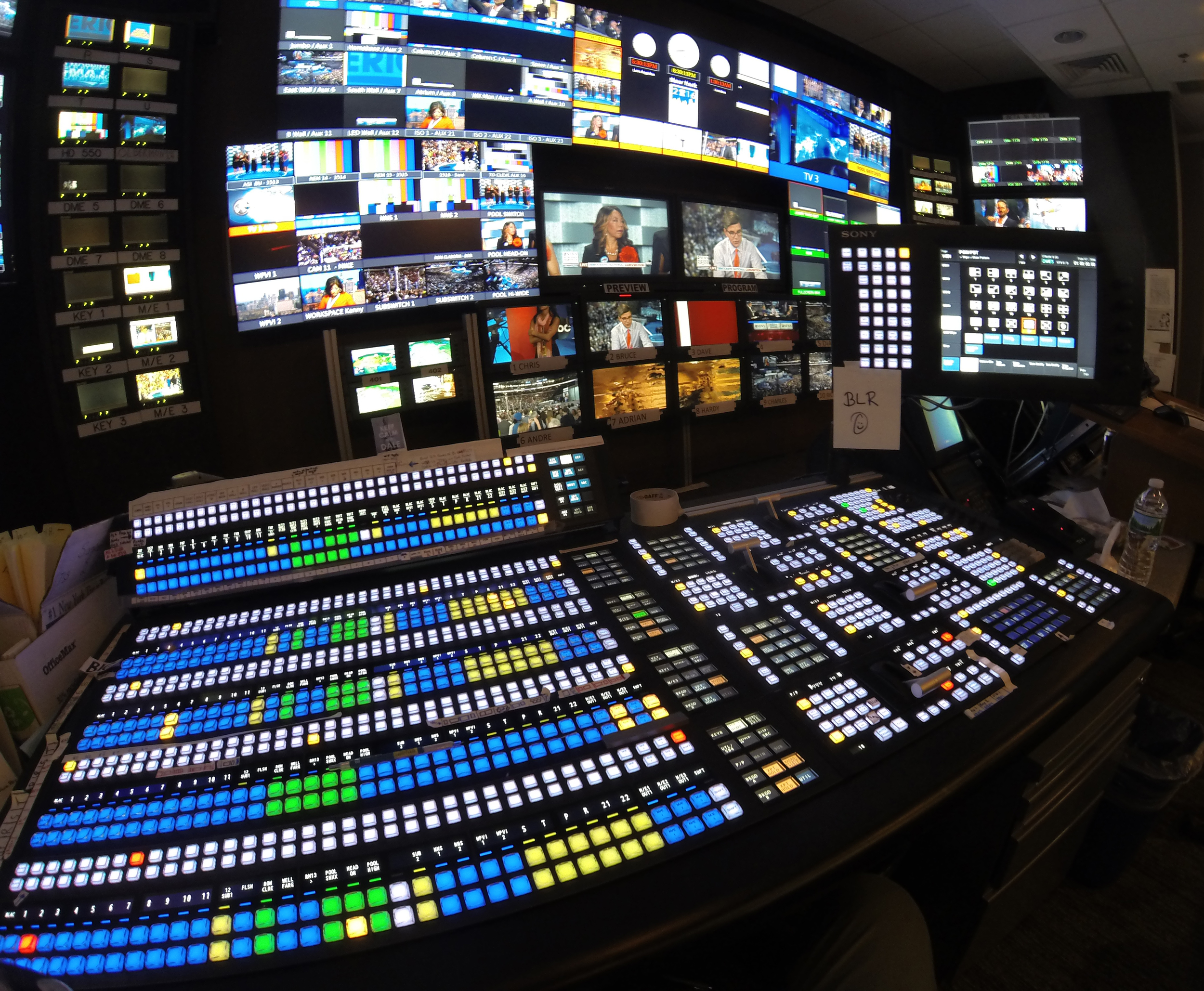 Convention Control Room - At Times Square Studios, New York.