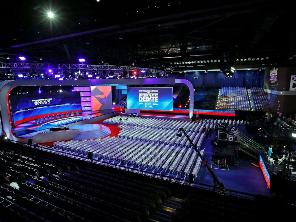 the third Democratic debate preperations.                                                houston texas Sept 13, 2019
