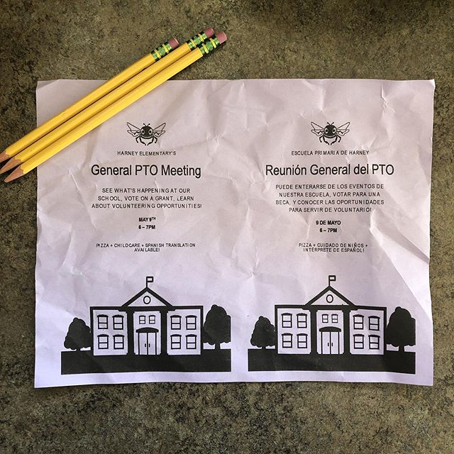 It may have come home crumpled... it may still be in the bottom of a backpack... let it be know that our final General PTO Meeting of the year is TOMORROW (5/9)! Bring your kids, eat some pizza. 6-7pm  See you there!