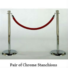 Chrome stanchion with tulip top text.jpg