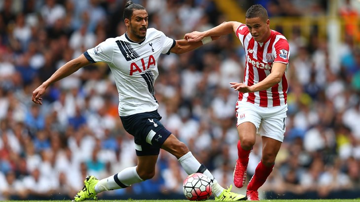 Nacer Chadli has averaged a goal or assist once every 137 minutes this season.