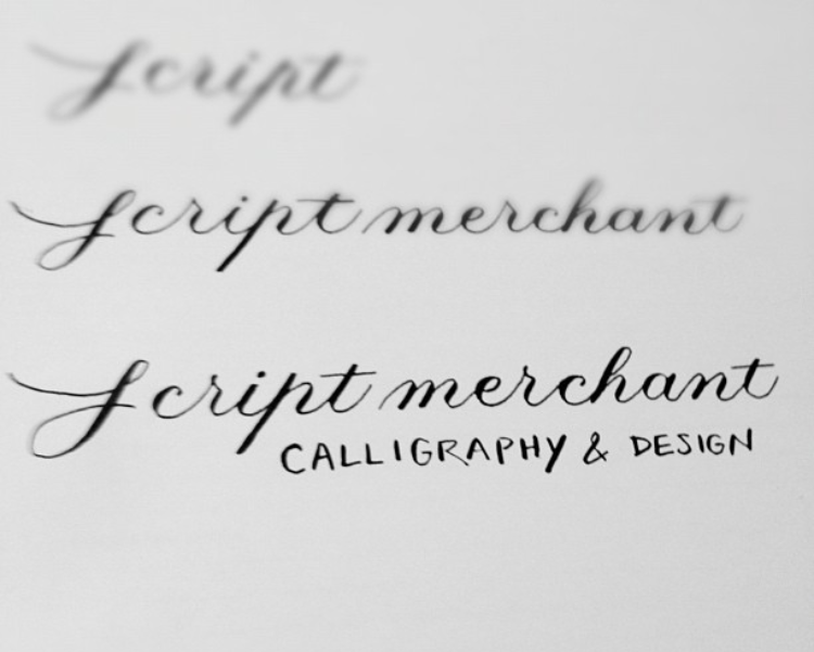 Some early, under-developed Copperplate skills. This? I shouldn't really teach this.