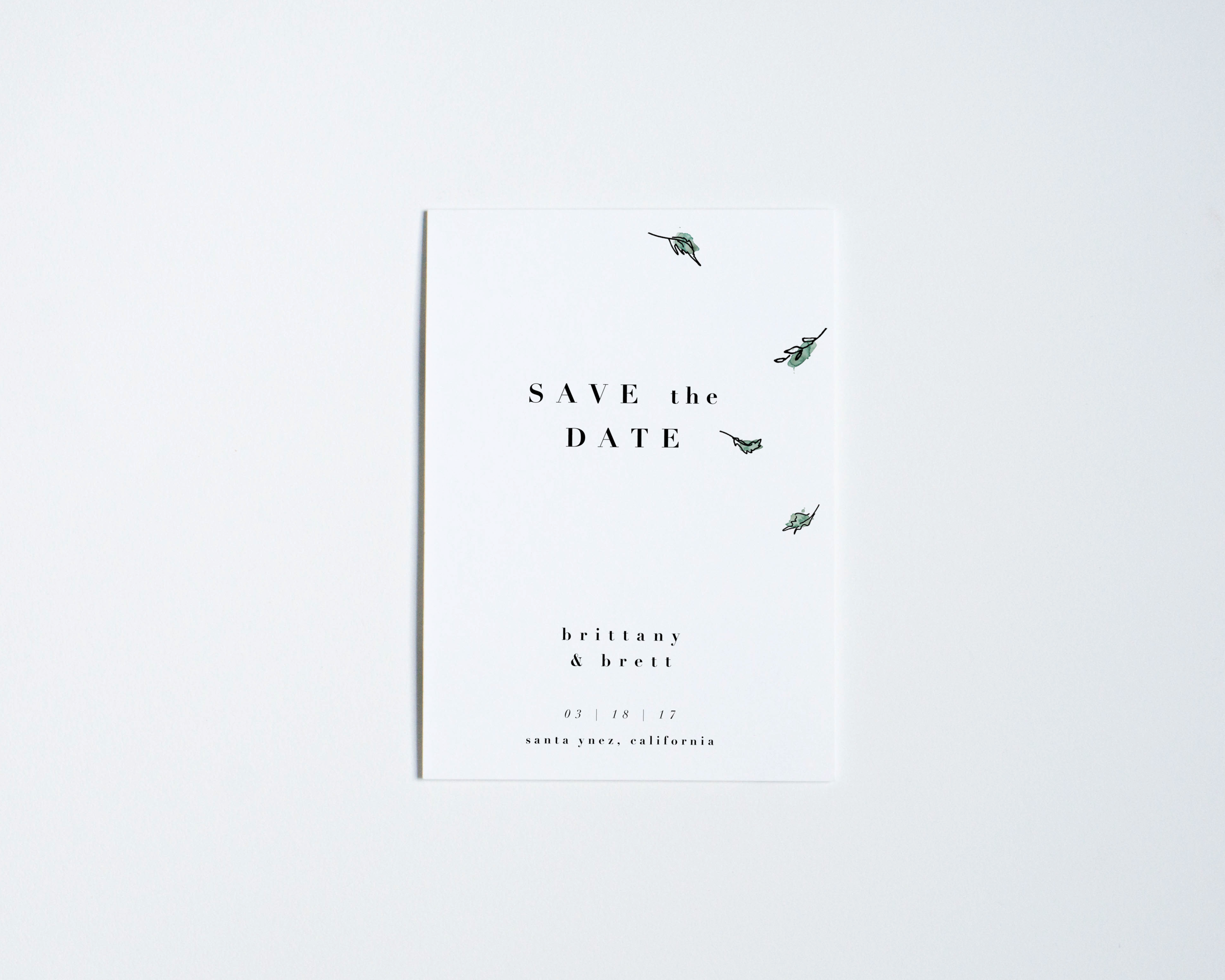 GREEN LEAVES SAVE THE DATE