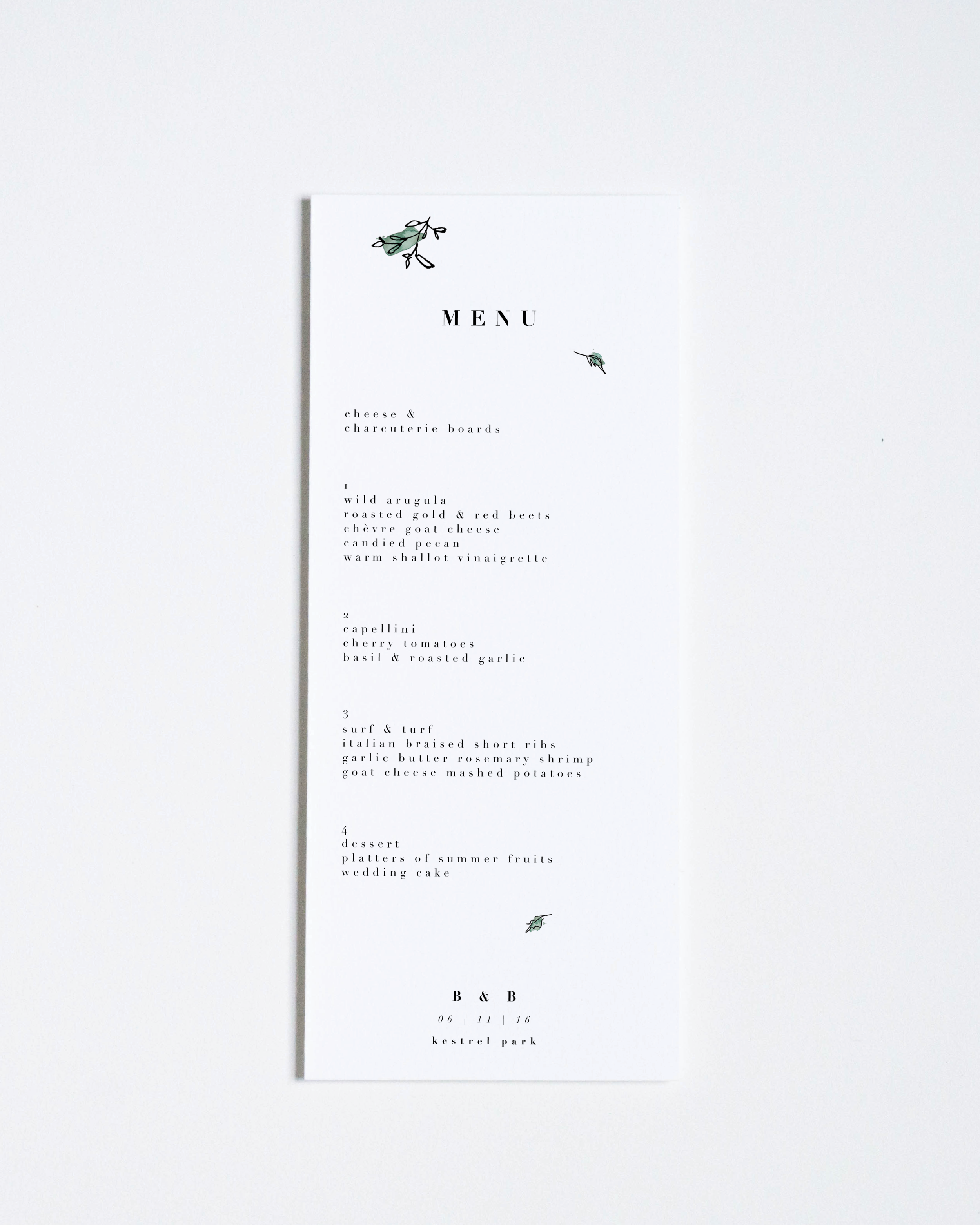 GREEN LEAVES MENU