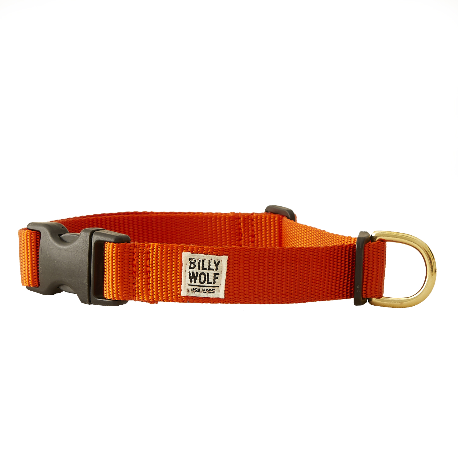 The Orange Scout Collar - With rugged and sporty heavy duty nylon and a military-grade buckle, this collar will hold up to burrs, snags and any other mischief they find themselves in, without coming off. And you'll love the easy-to-spot orange collar that stands out in a sea of trees. Choose from six colors: red, black, hunter, tan, orange or navy.