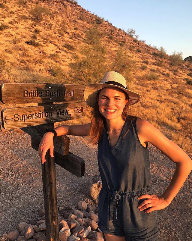 Sunset-kissed Arizona evening hikes 🌅✨🧡