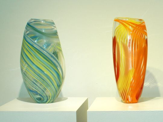 Hand Blown Glass by Oliver Debikey (Photo: Tom Shafer/For the Journal & Courier)