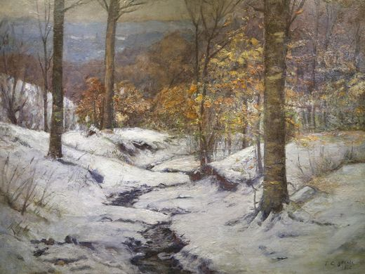 Winter in the Ravine, T. C. Steele, oil  A Bicentennial Legacy, ArtSmart: Indiana