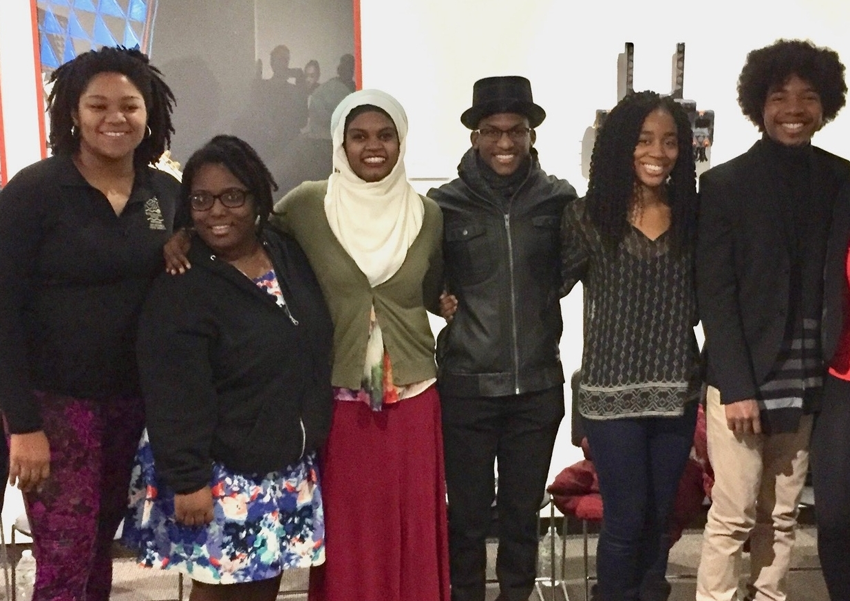 """Chanel Beebe, Maya McChristion, Aanisah Mubarak, Dominique Shelby, Latrice Young and Aaron """"A J """" Lucky"""