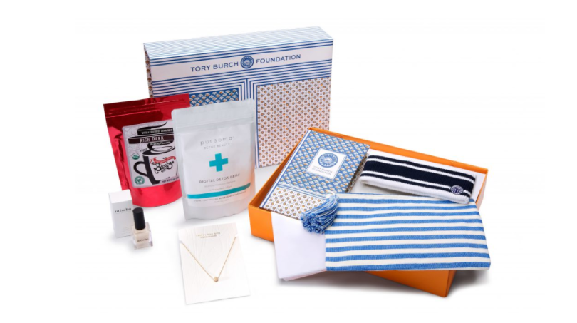 Tory Burch Foundation Seed Box  - Each box includes seven products made by women entrepreneurs and all proceeds benefit The Tory Burch Foundation, which develops programs and initiatives that invest in the success and sustainability of women-owned small businesses.